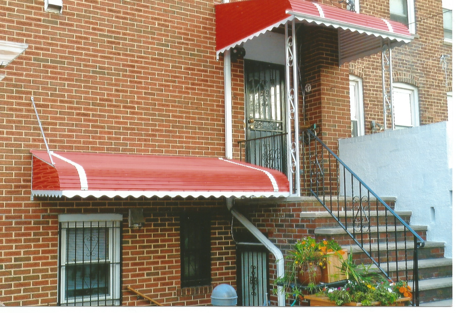 brooklyn residential in awning full york aluminum cool inspirations of awnings new queens size ny houston warehouse citywide nyc