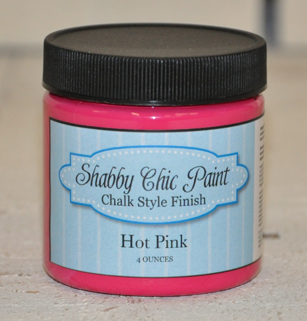 Shabby Chic Paint Color Hot Pink Chalk Style Finish Paint