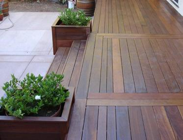 Brazilian hardwood deck material is known for its strength and durability.