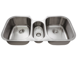 Solaris 1254 Triple Bowl Stainless Steel Sink