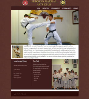 Website Design - Budokan Martial Arts Club