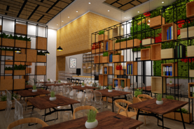 ONLY GREEN RESTAURANT CAFE CONCEPT PROJECT DESIGN 107 FOOD