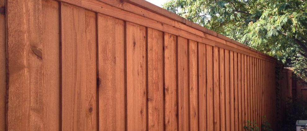 Board on Board Fence with Trim. Lewisville Fence Builders