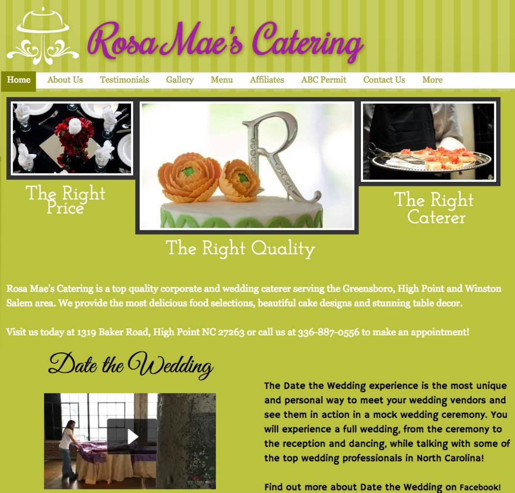 Rosa Mae's Catering ~ Preferred Vendor Castle McCulloch