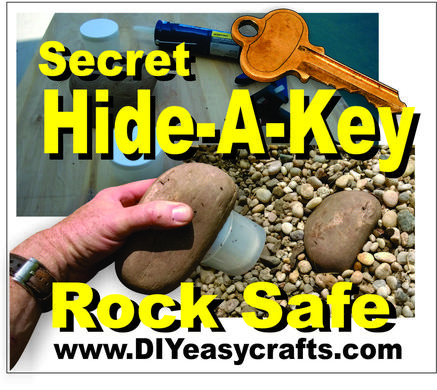 DIY Secret Hide a key rock safe. www.DIYeasycrafts.com