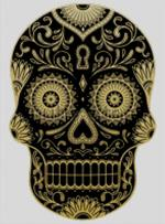 Cross Stitch Chart of Sugar Skull No 40