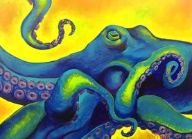 Buy Neon Octopus by Kelly Reark on Etsy