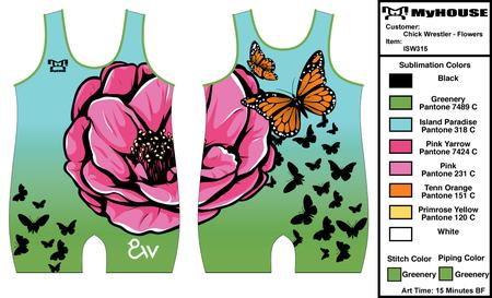 Youth Girl's Butterfly Singlet
