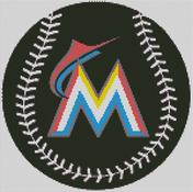 Cross Stitch Chart pattern of the Miami Marlins