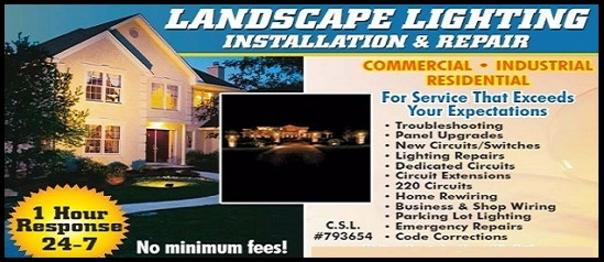 landscape lighting repairs and installation