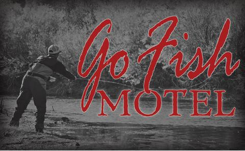 Logo for the Go Fish Motel near Craig, MT