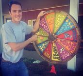 Picture of Young Hank Spinning the Wheel of Fun