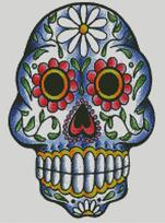 Cross Stitch Chart of Sugar Skull No 31