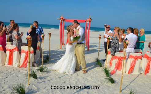 Beautiful, beach wedding in Cape Canaveral, Florida