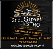 Second Street Bistro, Fort Pierce, Treasure Coast Naturists, nude beach group, Blind Creek Beach, naturist, nudist, free beach, Hutchinson Island, St. Lucie County, Florida