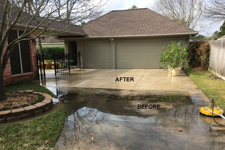 driveway pressure washing in Cypress Texas