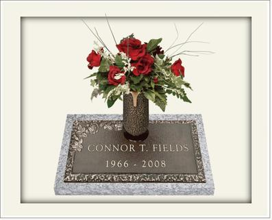 single bronze memorial designs