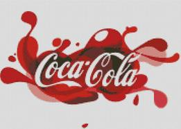 Cross Stitch Chart Pattern of Retro 70's Coca Cola Artwork