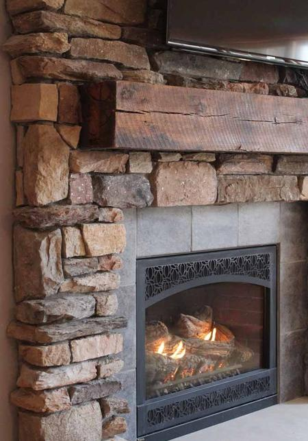 Heritage Mantels creates beautiful rustic fireplace ...