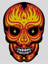 Cross Stitch Chart of Sugar Skull No 17