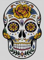 Cross Stitch Chart of Sugar Skull No 26