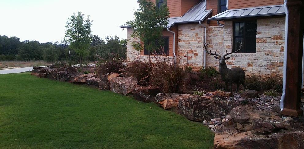 Landscaping · Irrigation services · Hardscapes ... - Front Yard Landscaping Ideas, Landscaping Rocks - Cornerstone