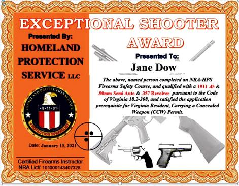 HPS can train you for your in-person CCW requirement