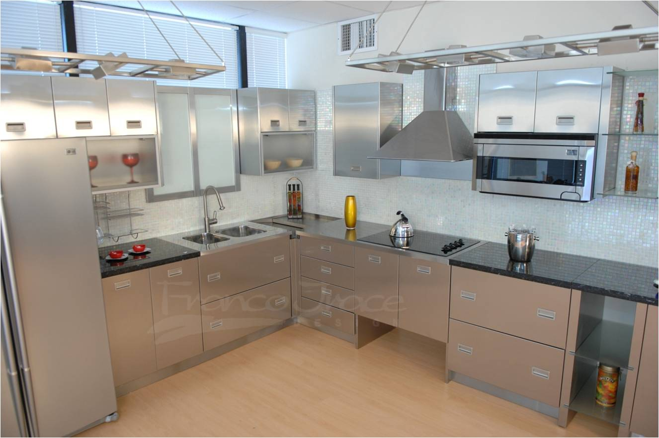 Stainless Steel Kitchens Stainless  Steel Kitchen Cabinets
