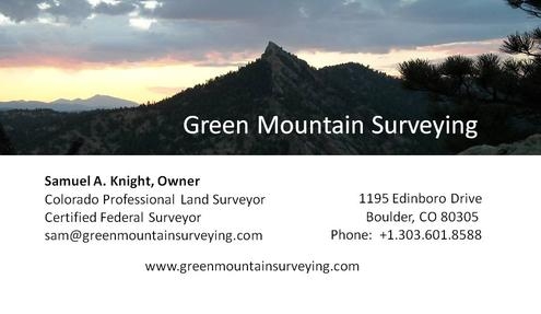 Green Mountain Surveying Business Card