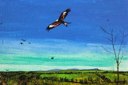 Painting of a bird by Colin McGookin