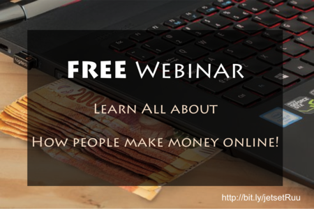 Learn all about making money online via this FREE webinar, register now: http://bit.ly/jetsetRuu
