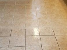 Pro bathroom tile and grout cleaning before and after