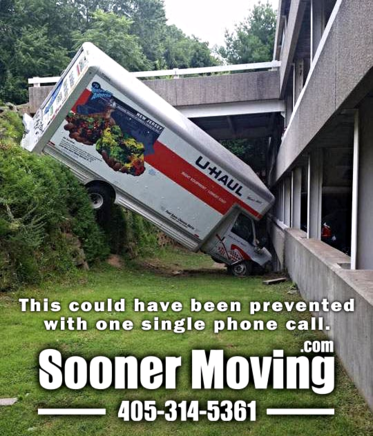 Moving Company Truck Accident Scene