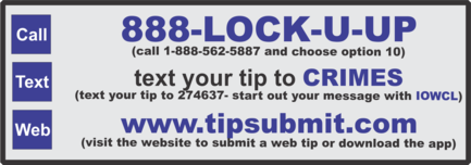 Click Here to Submit a Web Tip Crime Line Logo