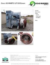 Gencor 90 MBTU UF-100 Burner for Asphalt Plants
