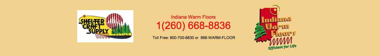 Contact banner, Indiana Warm Floors