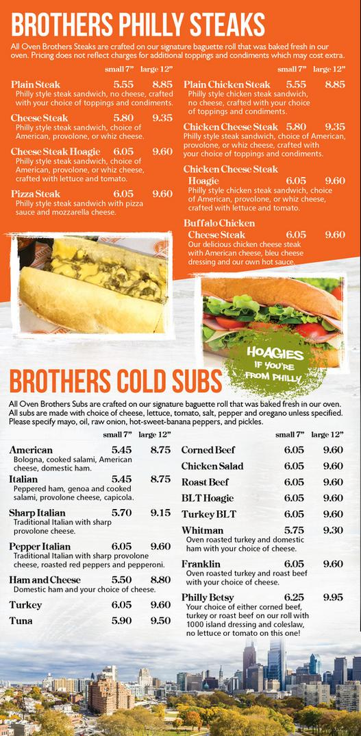 Oven Brothers Menu Page1