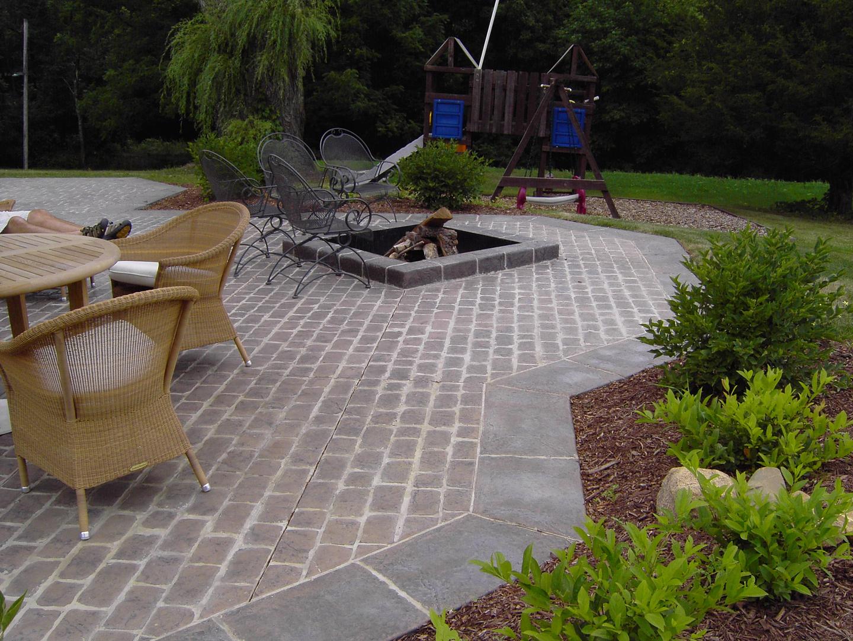 stamped concrete stamped concrete patio james concrete
