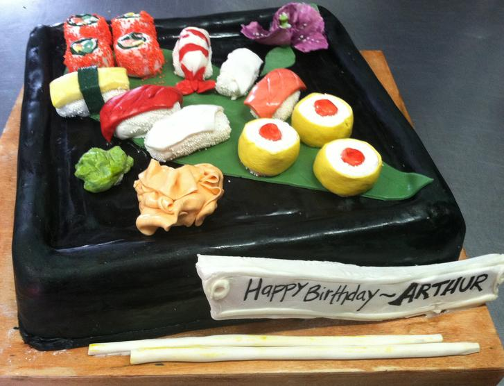sushi, cake, art, food, nigiri, colorful