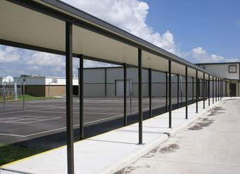 Chism Company Metal Walkway Canopies