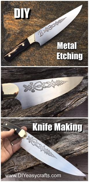 DIY Metal Etching and knife making. FREE step by step instructions from www.DIYeasycrafts.com