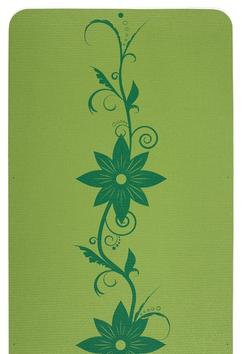Island Floral One-Color Yoga Mat