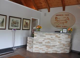 Main lobby / relaxation area of Cincinnati Hills Animal Clinic Montgomery Road location