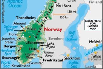 Norway - Norway map fredrikstad