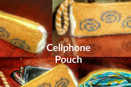 Womens Felted Wristlet Pouch
