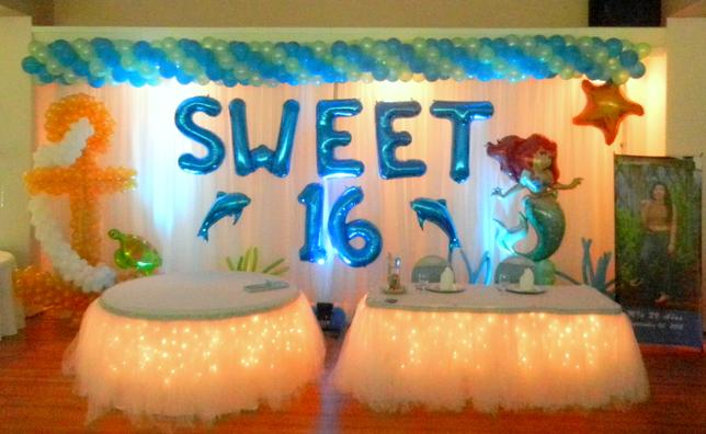 Little Mermaid sweet 16