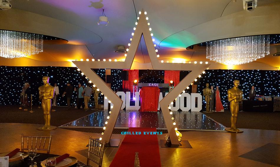 Hollywood Themed Event Prop Hire | Oscar Statue Hire | Casino Hire