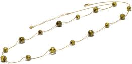Murano Glass Gold Floating Necklace Long