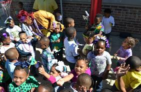 Young Children enjoying a Event at the YMCA