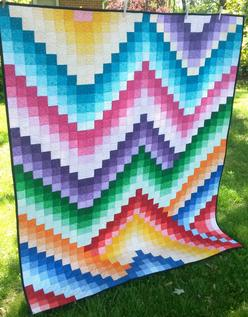 Harmony Bargello Free Quilt Pattern